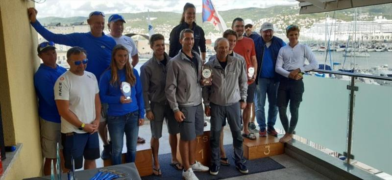 Corinthian podium of the final event of the 2020 Melges 24 European Sailing Series - photo © Societa Triestina Sport del Mar