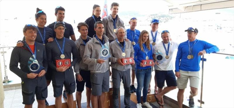 Overall podium of the 2020 Melges 24 European Sailing Series - photo © Societa Triestina Sport del Mar