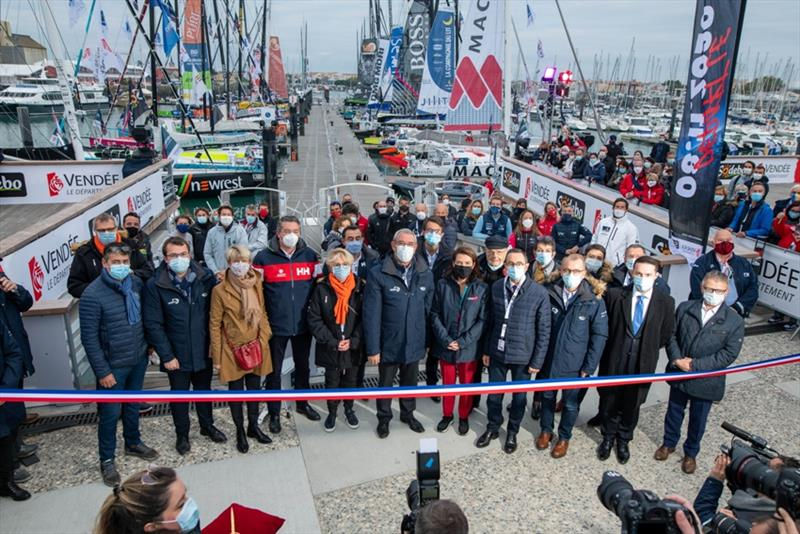 Inauguration Vendee Globe photo copyright Vincent Curutchet taken at