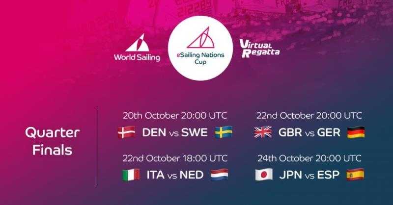 Schedule for the Quarter Final. - photo © World Sailing