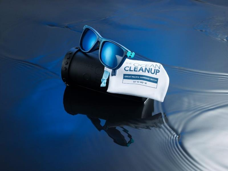 The Ocean Cleanup sunglasses with case and pouch - both made with recycled materials - photo © The Ocean Cleanup