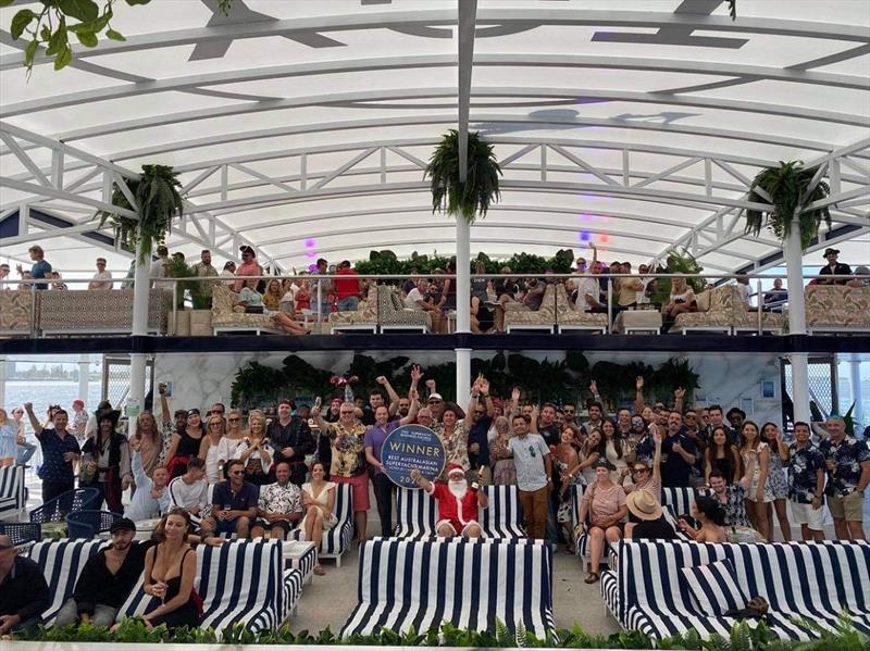 GCCM team celebrates ACrew win at Pirate themed Christmas Party - photo © Gold Coast City Marina