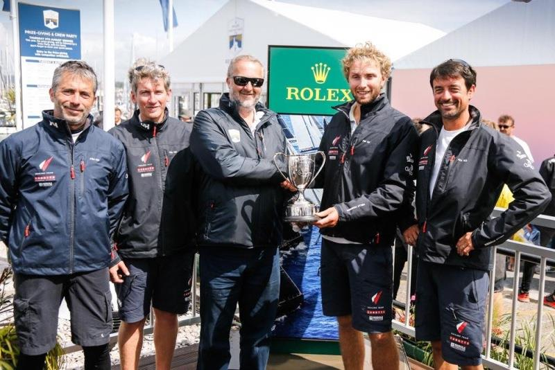 Luke Berry and team on Mach 40.3 Lamotte - Module Création won Class40 overall in the 2019 race  - photo © Paul Wyeth / RORC