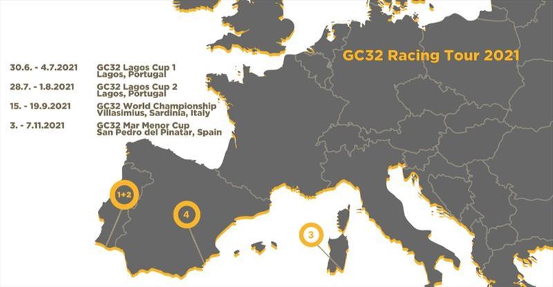 GC32 Racing Tour revises its 2021 schedule - photo © GC32 Racing Tour