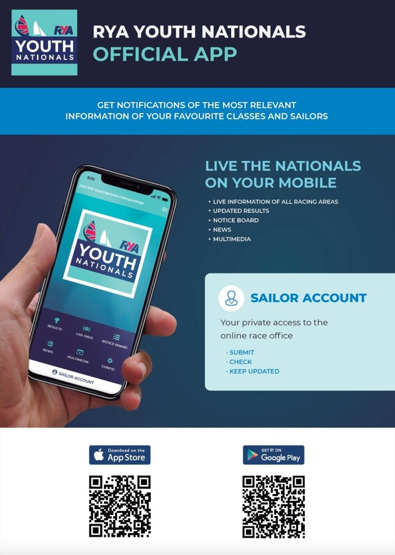 RYA Youth Nationals official app - photo © British Sailing Team