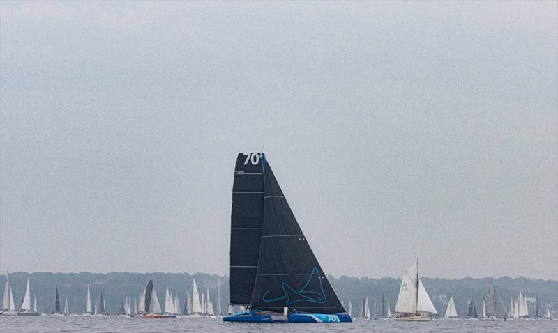 Line honours for PowerPlay in the 90th Round the Island Race - photo © Lloyd Images / www.lloydimages.com