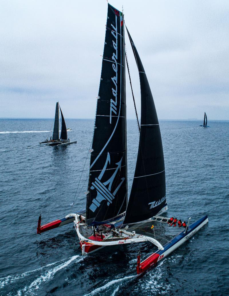 Maserati is one of three MOD 70 multihulls racing to Hawaii - Transpac 50 - photo © Ronnie Simpson / Ultimate Sailing
