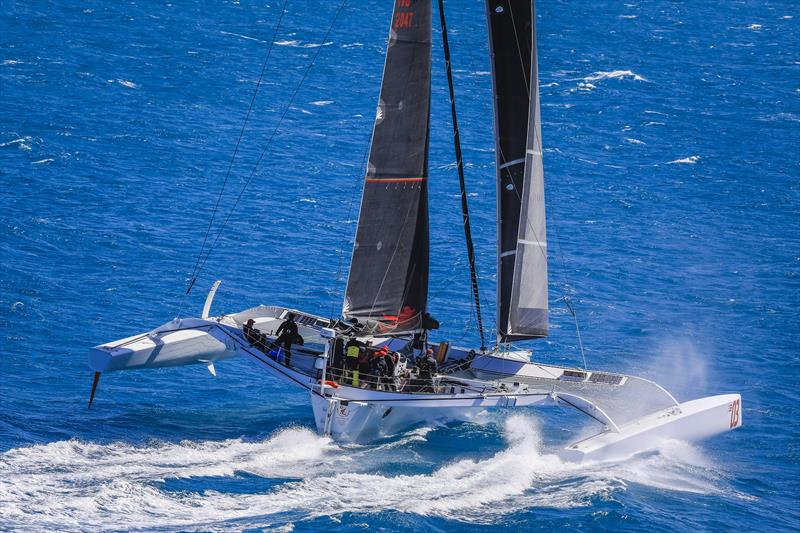 Beau Geste tracking at 35kts on Day 3 of Hamilton Island Race Week 2019 - photo © Salty Dingo