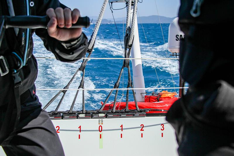 Even though the true wind is well aft the main traveler is near centre due to the direction of the apparent wind - Beau Geste - Day 5 - Hamilton Island Race Week, August 23, 2019 - photo © Richard Gladwell