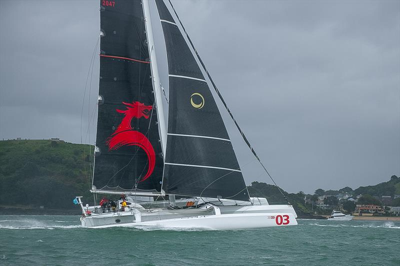 Beau Geste (Pat Kong) (Hong Kong) - PIC Coastal Classic - Start - Waitemata Harbour - October 25, .  photo copyright Richard Gladwell / Sail-World.com taken at Royal New Zealand Yacht Squadron and featuring the MOD70 class