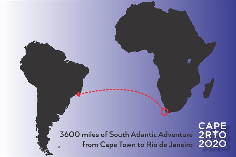 Route map of the Cape to Rio 2020 - photo © Image courtesy of Luke Scott/Cape to Rio 2020