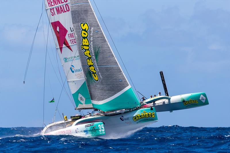 The Multi50 French Tech Caraïbos on day 1 at Les Voiles de Saint Barth Richard Mille - photo © Christophe Jouany