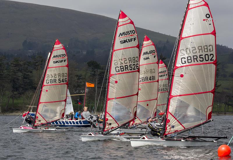 Musto Skiffs at the Ullswater Daffodil Regatta - photo © Tim Olin / www.olinphoto.co.uk