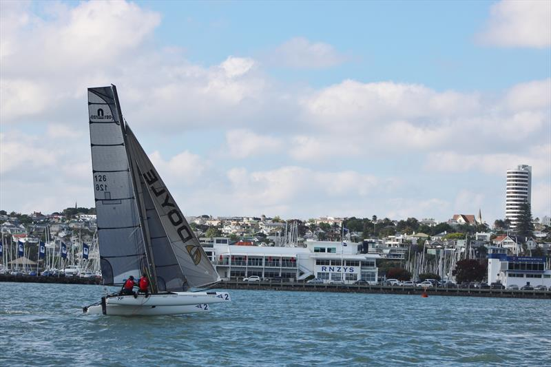 Royal New Zealand Yacht Squadron are running their three week International Foiling Camp in Nacra 20's - photo © RNZYS