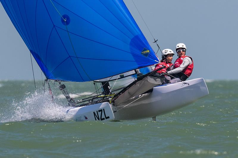 Greta Stewart, Tom Fyfe - NZL - Day 4 - Youth Sailing World Championships - Corpus Christi, Texas, USA  - photo © Jen Edney / World Sailing