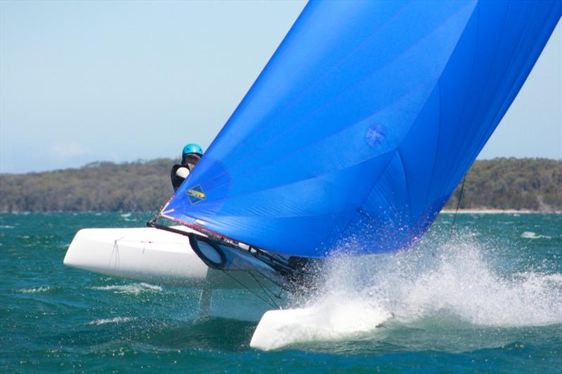 Nacras on day 1 of the NSW Youth Championship at Lake Macquarie - photo © Stephen Collopy