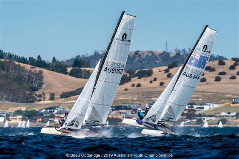 Day 1 - 2019 Australian Sailing Youth Championships - photo © Beau Outteridge