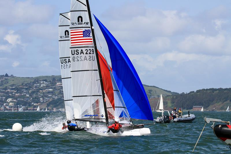 Sutter and Versavel win Nacra 15 Youth Worlds Qualifier at St. Francis Yacht Club