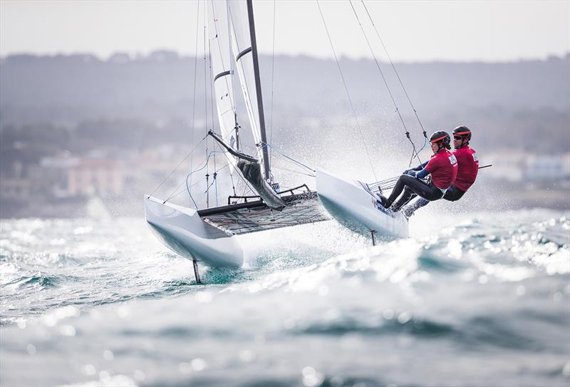 John Gimson and Anna Burnet, Nacra 17 photo copyright Lloyd Images taken at  and featuring the Nacra 17 class