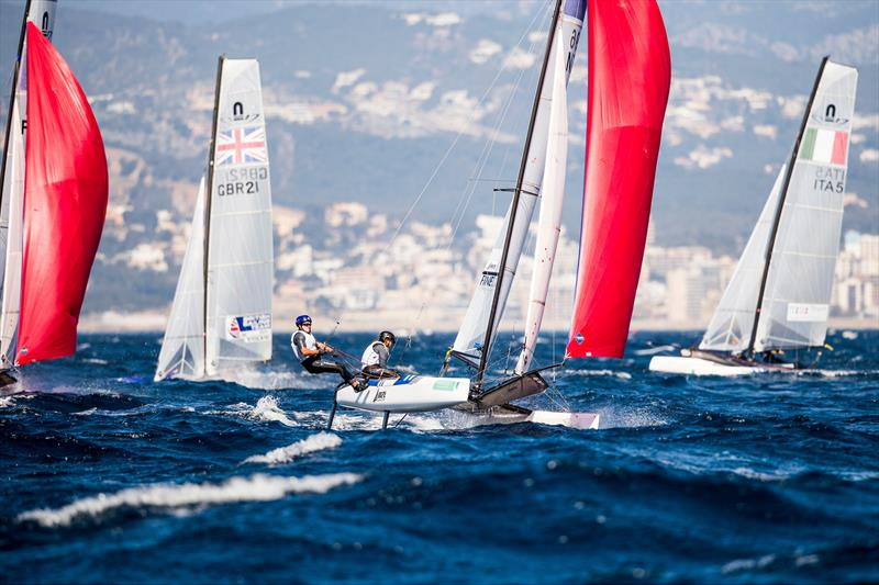 Nacra 17s- 49th Trofeo Princesa Sofia Iberostar, Palma, Spain - photo © Tomas Moya / Sailing Energy / World Sailing