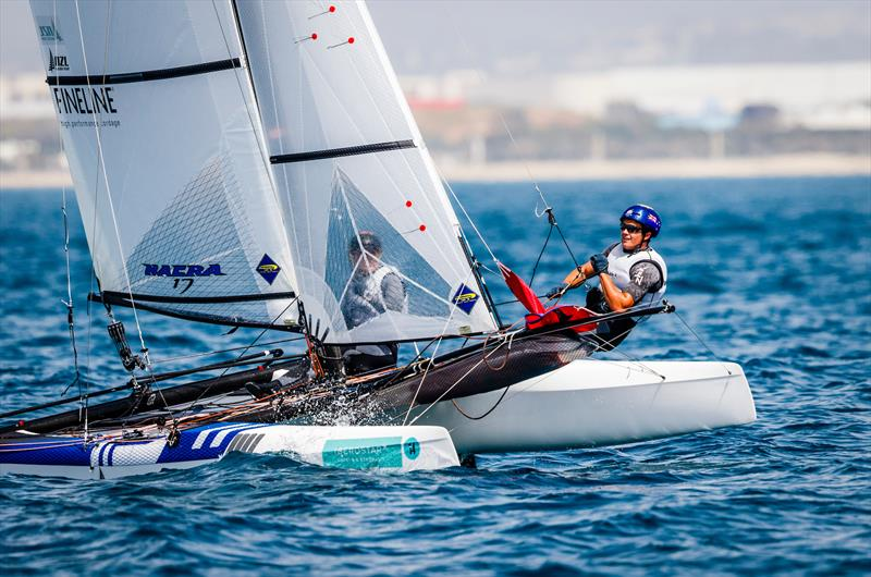 Wilkinson and Mackay (NZL) - Nacra 17 - Medal Race - 49th Trofeo Princesa Sofia Iberostar, April 7, 2018 - photo © Bernard Bibiloni / Sailing Energy / Trofeo Princesa Sofia Iberostar