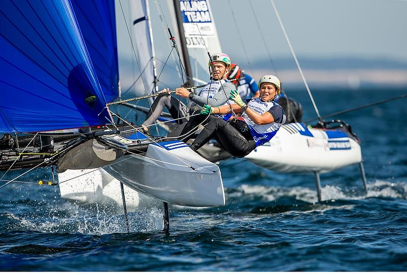 Nathan and Hayley Outteridge (AUS) - Nacra 17 - Hempel Sailing World Championships - Aarhus, Denmark - August 2018 - photo © Sailing Energy / World Sailing