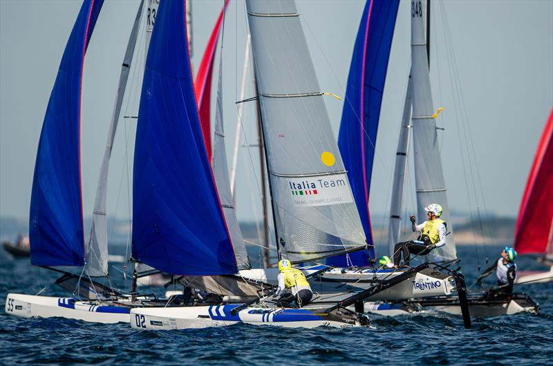Ruggero Tita / Caterina Marianna Banti (ITA) - Nacra 17 - Day 10 - Hempel Sailing World Championships, Aarhus, Denmark, August 2018 - photo © Sailing Energy / World Sailing