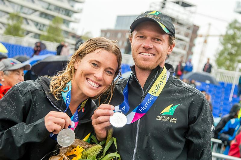 Nathan Outteridge/Haylee Outteridge - 2018 World Championships Aarhus - photo © Jesus Renedo / Sailing Energy / Hempel Sailing World Championships, Aarhus