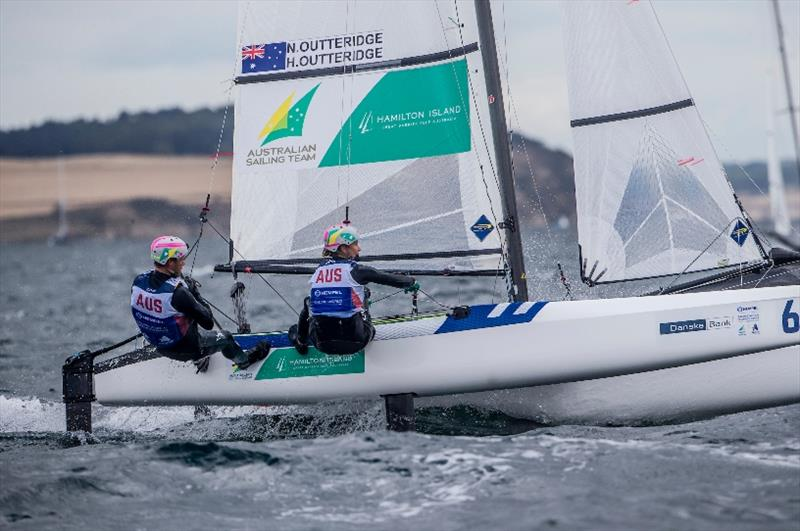 Nathan Outteridge and Haylee Outteridge - photo © Jesus Renedo / Sailing Energy / World Sailing