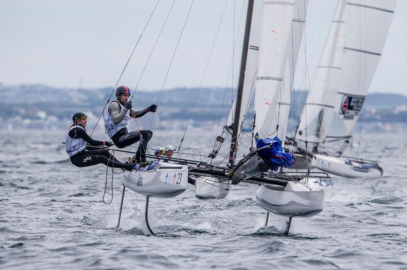 NZL - Nacra 17 -= - Day 1 - Sailing World Cup - Enoshima - photo © Jesus Renedo / Sailing Energy / World Sailing