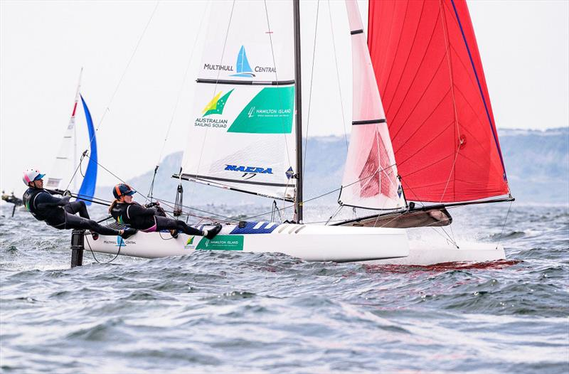 Paul Darmanin and Lucy Copeland moving on up - 2019 49er, 49erFX and Nacra 17 European Championships - photo © Drew Malcolm