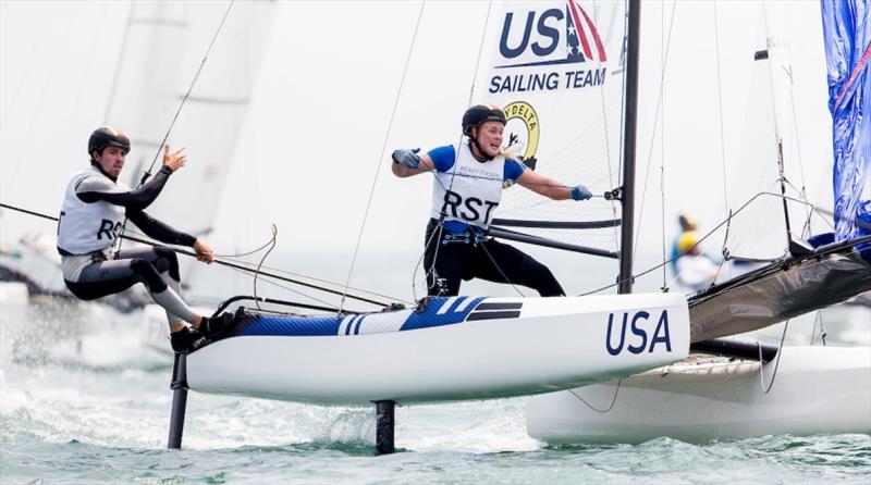 Riley Gibbs and Anna Weis - Ready Steady Tokyo, day 3 - photo © Pedro Martinez / Sailing Energy / World Sailing
