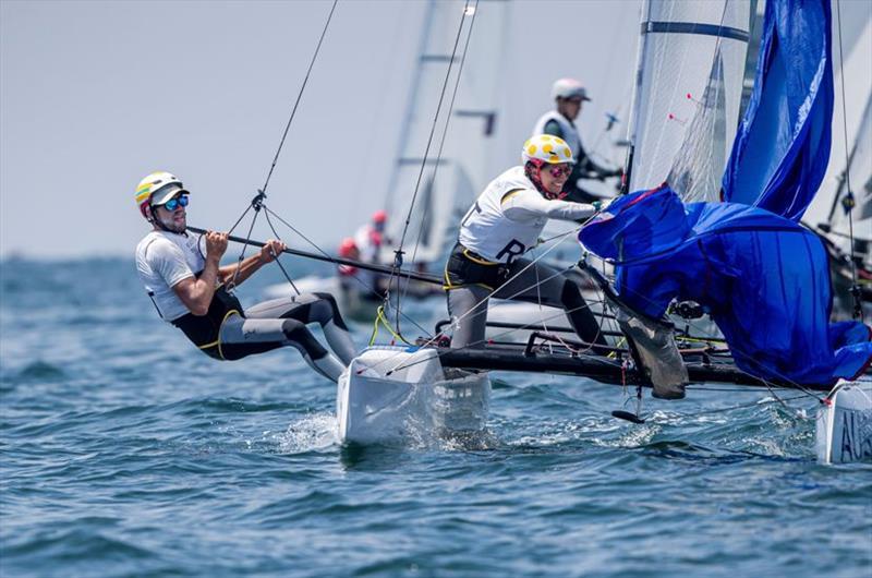 Jason Waterhouse and Lisa Darmanin - Ready Steady Tokyo, day 4 - photo © Jesus Renedo / Sailing Energy / World Sailing