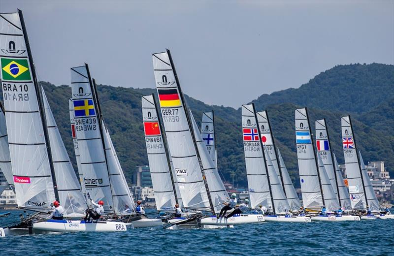49er, 49erFX and Nacra 17 fleets at Ready Steady Tokyo - Day 4