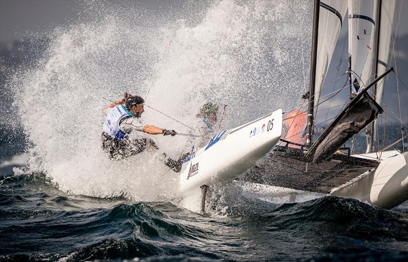 Gemma Jones, Josh Porebski (NZL) - Nacra 17 - Enoshima, Round 1 of the 2020 World Cup Series - August 29, 2019 - photo © Jesus Renedo / Sailing Energy / World Sailing
