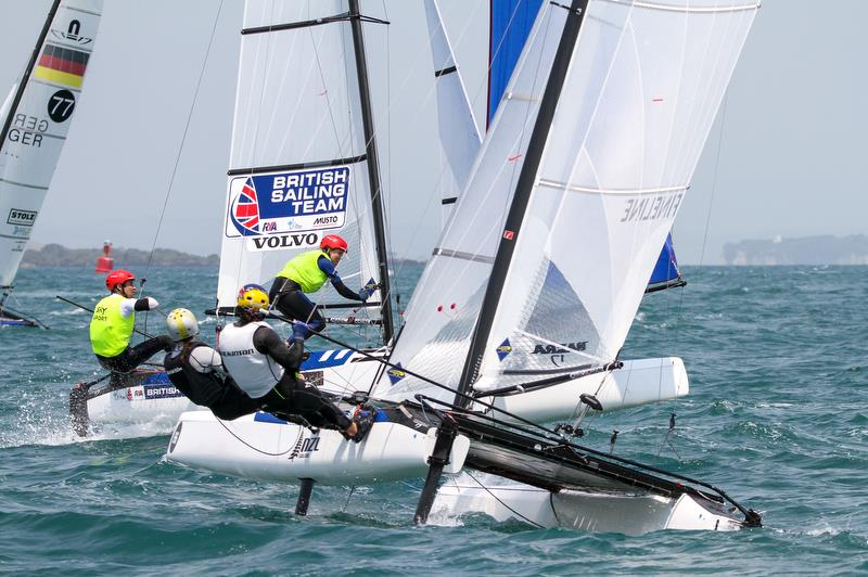 Mica Wilkson & Erica Dawson (NZL) - Nacra 17 - Hyundai Worlds - Day 4, December 6, , Auckland NZ - photo © Richard Gladwell / Sail-World.com