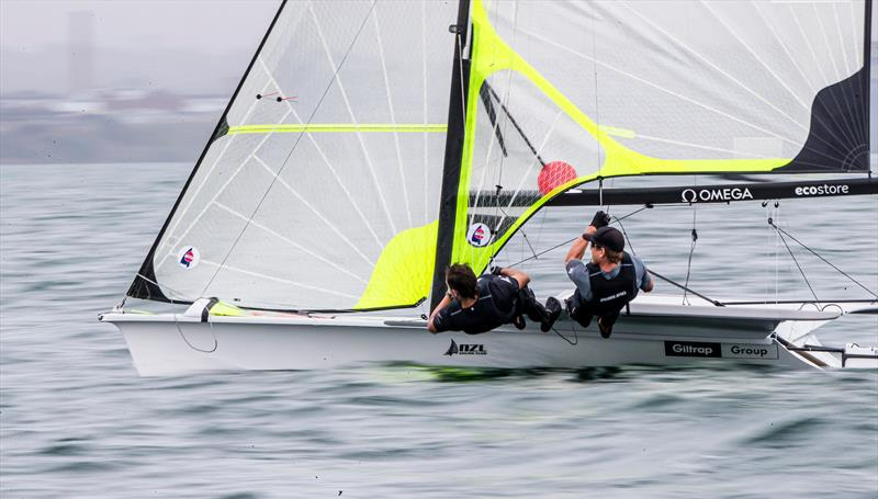 Peter Burling and Blair Tuke - 49er - Day 1 - 2020 World Championships - Royal Geelong Yacht Club - February 2020 - photo © Jesus Renedo / Sailing Energy / World Sailing