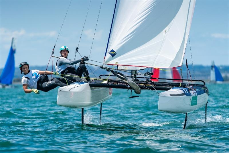 Nathan and Haylee Outteridge - 2020 49er, 49er FX & Nacra 17 World Championships, Day 4 - photo © Beau Outteridge