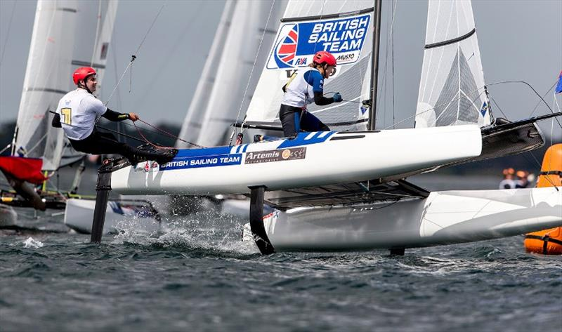 John Gimson and Anna Burnet - 2020 49er, 49erFX and Nacra 17 World Championships, Day 4 photo copyright Pedro Martinez / Sailing Energy taken at Royal Geelong Yacht Club and featuring the Nacra 17 class