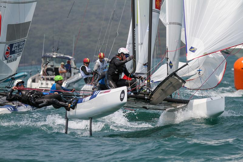 Billy Besson & Marie Riou (FRA) - Nacra 17 - Hyundai Worlds - Day 4, December 6, 2019, Auckland NZ - photo © Richard Gladwell / Sail-World.com\