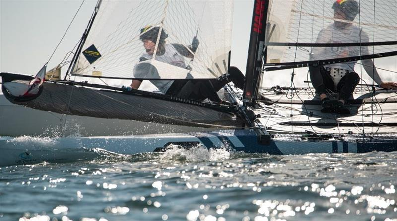 Riley Gibbs and Anna Weis (USA) on Day 3 at 2021 West Marine US Open Sailing – Miami - photo © Allison Chenard