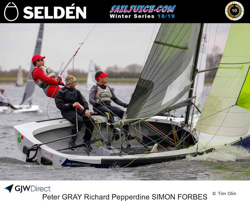 Peter Gray, Richard Pepperdine and Simon Forbes took second overall in the 2019 Selden SailJuice Winter Series - photo © Tim Olin / www.olinphoto.co.uk