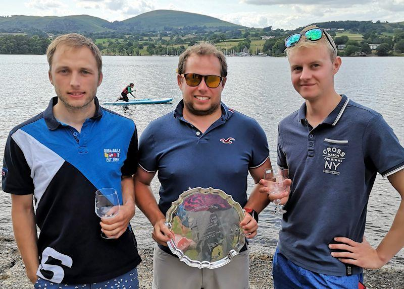 Peter Gray, Simon Forbes and Sam Jones win the Lord Birkett Memorial Trophy 2019 at Ullswater - photo © Sue Giles