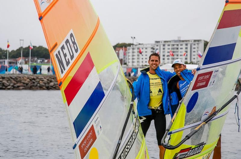 Dutch Men's RS:X medalists at the Hempel Sailing World Championships Aarhus - photo © Sailing Energy / World Sailing