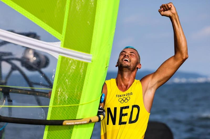 The Netherlands wins gold in Men's Windsurfer at Tokyo 2020 Olympic Sailing Competition