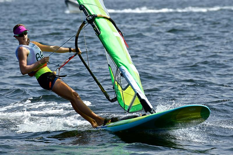 Patricia Freitas (BRA) - Day 2, Womens RS:X - Rio Olympic Regatta - photo © Richard Gladwell