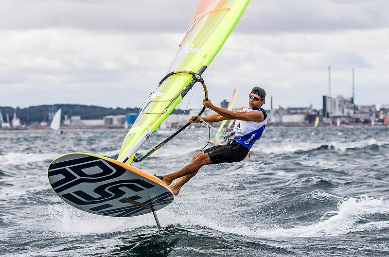 Antonio Cozzolino (NZL) - RS:X - Day 4 - Hempel Sailing World Championships, Aarhus - August 2018 photo copyright Sailing Energy / World Sailing taken at  and featuring the RS:X class