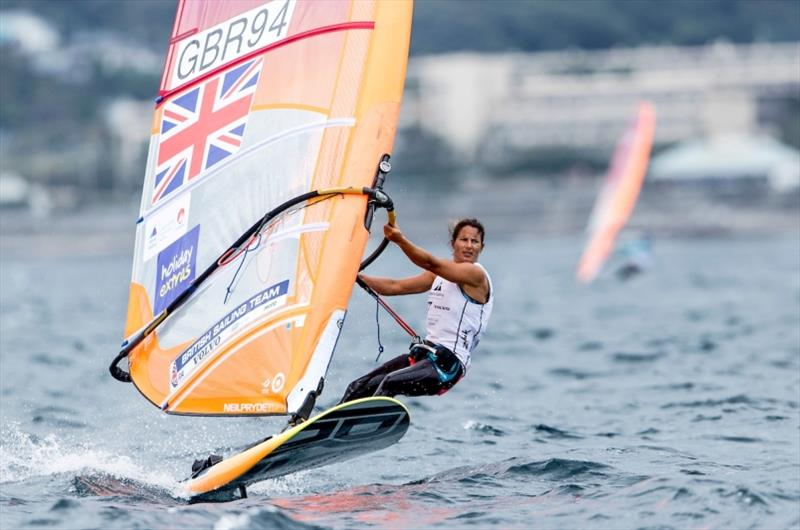 Bryony Shaw in the RS:X on Day 3 at World Cup Series Enoshima - photo © Jesus Renedo / Sailing Energy / World Sailing
