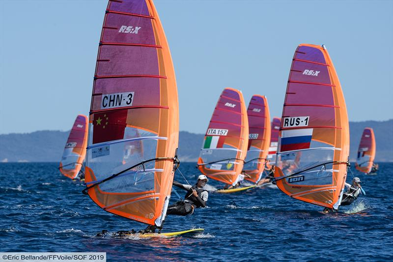 51st Semaine Olympique Française - Day 1 photo copyright Eric Bellande taken at  and featuring the RS:X class