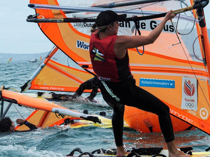 Lilian de Geus (NED) - 2020 RS:X Windsurfing World Championships, day 3 - photo © Caitlin Baxter